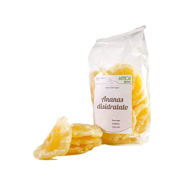 Ananas disidratato in confezione variabile da 250 grammi 500 grammi o 1 kg