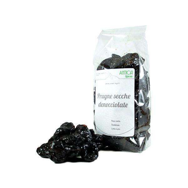 Prugne secche denocciolate in confezione da 250 grammi, 500 grammi o 1 kg senza zucchero