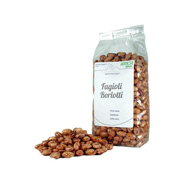 Fagioli borlotti italiani vendita online in confezione da 250 grammi, 500 grammi o 1 kg.