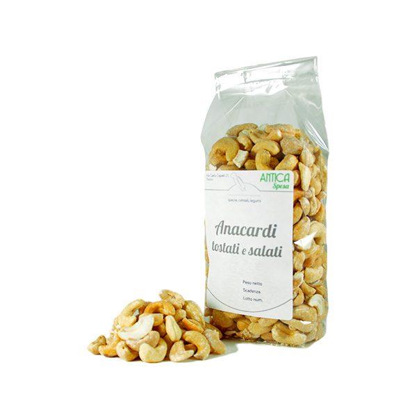 Anacardi tostati non salati in confezione da 250 gr 500 gr o 1 kg