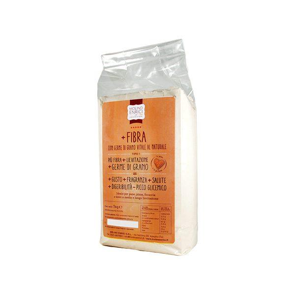 Farina di grano tenero tipo 1 in confezione da 1 kg molino Enrici
