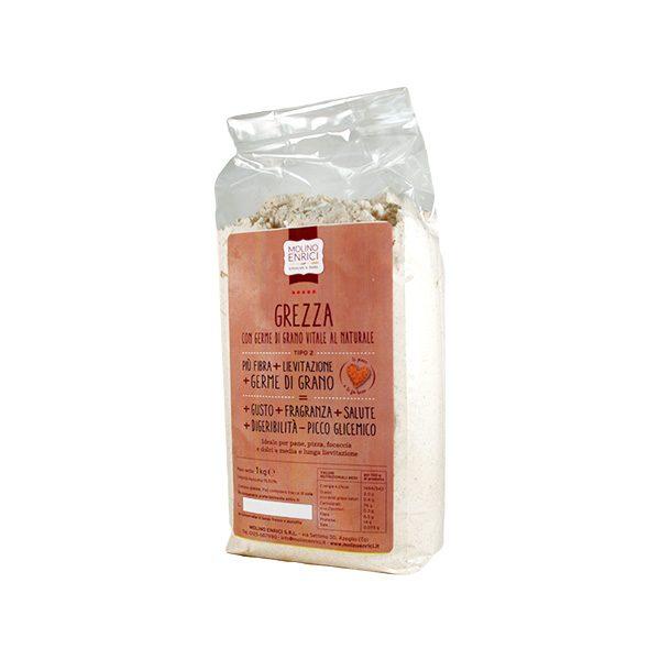 Farina di grano tenero tipo 2 in confezione da 1kg molino Enrici