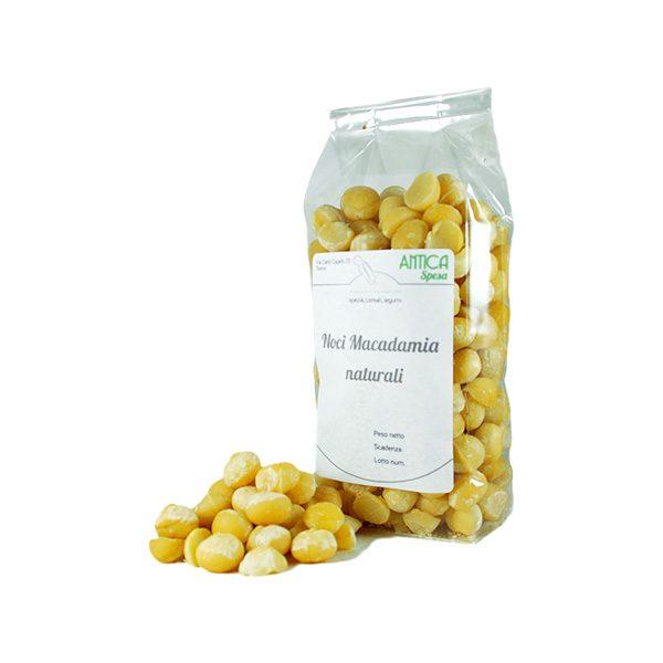 noci Macadamia al naturale sgusciate in confezione da 250 grammi, 500 grammi o 1 kg