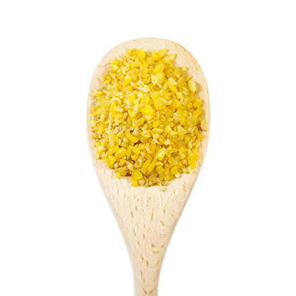 Bulgur in vendita sfusa in confezione da 250 grammi, 500 grammi o 1 kg.