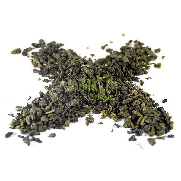 tè verde alla menta Tuareg, in vendita sfuso in confezioni da 75g, 150g o 250g.
