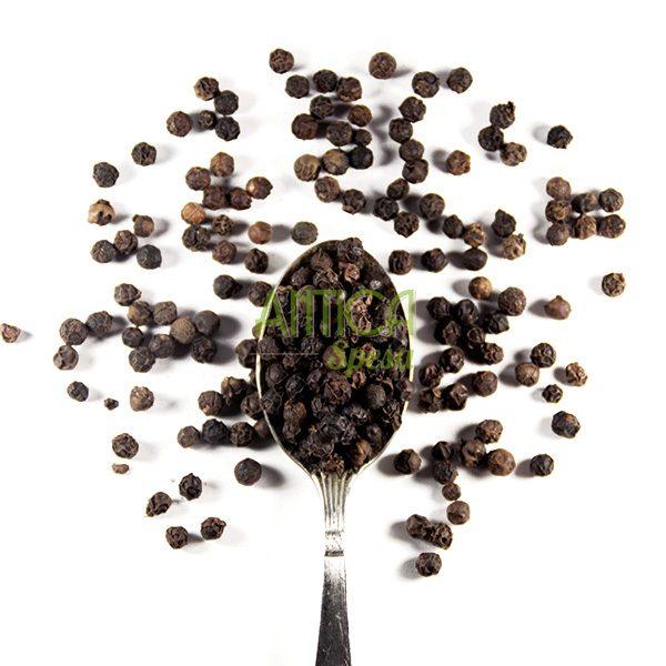 Pepe nero Tellicherry in grani in vendita online sfusi in confezione da 50 gr, 100 gr o 150 gr.
