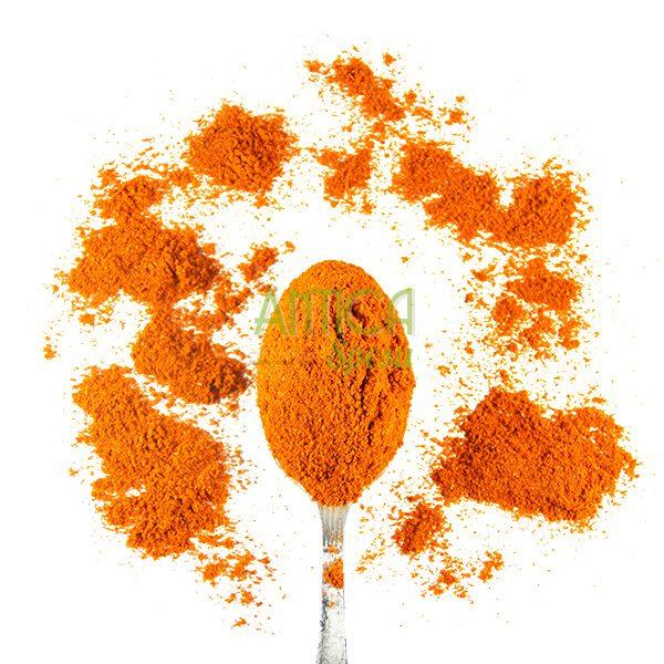 Paprika forte in vendita sfusa in confezioni variabili da 50 grammi, 100 grammi o 150 grammi