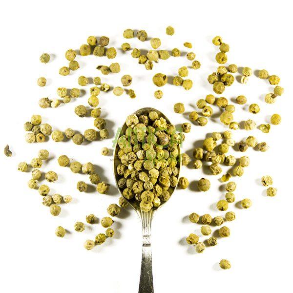 Pepe verde in grani in vendita sfusa in confezioni da 50 gr, 100 gr o 150 grammi.