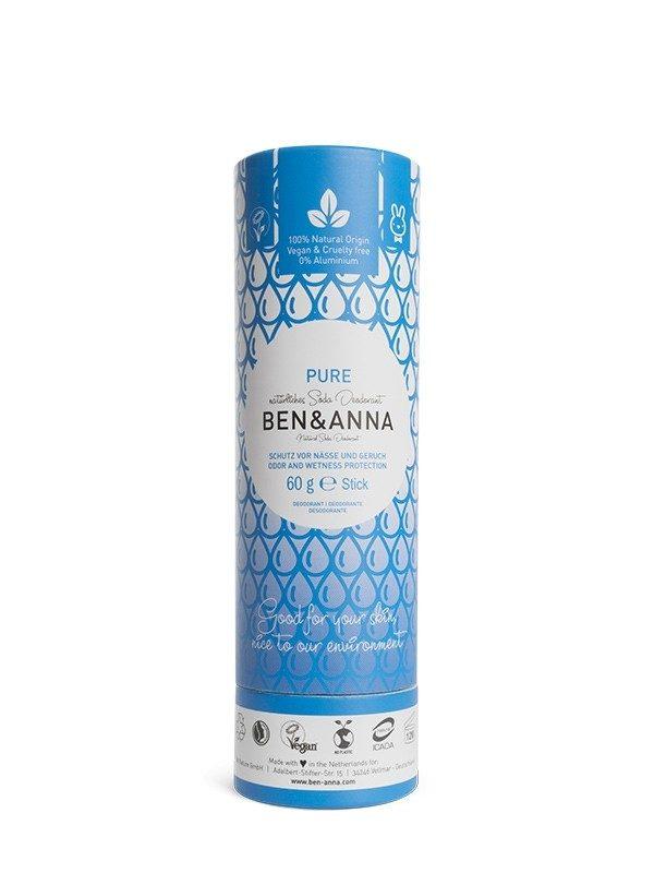 Deodorante Ben & Anna 100% naturale e biodegradabile nella profumazione Pure