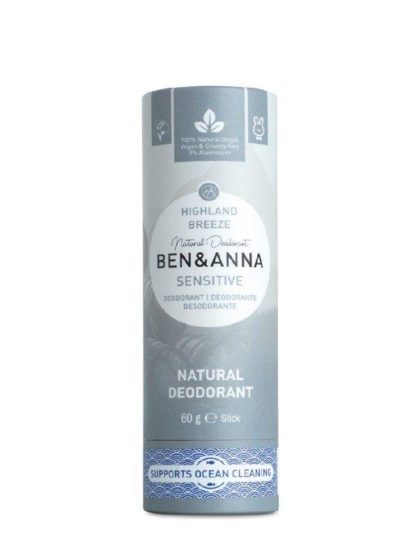Deodorante Ben & Anna 100% naturale e biodegradabile nella profumazione Highland Breeze