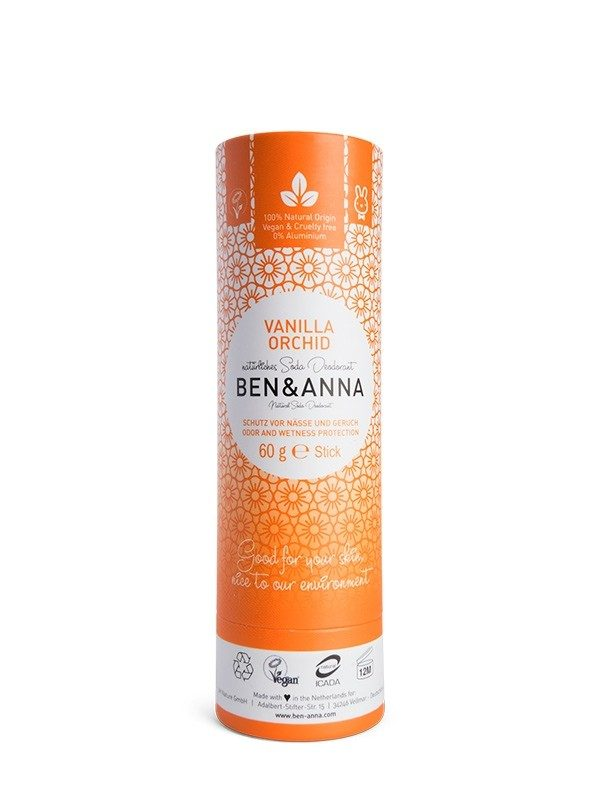 Deodorante Ben & Anna 100% naturale e biodegradabile nella profumazione Vanilla Orchid