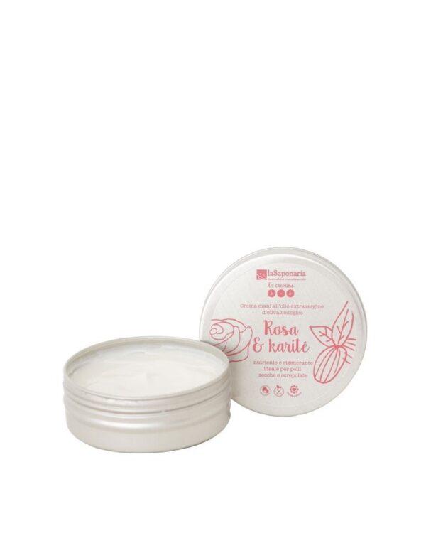 crema mani rosa e karitè 60ml biologica vegan plasticfree